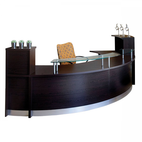Curved Reception Desk Counter from Office Stock'