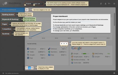 WebMeUp's Project Widgets in a nutshell'