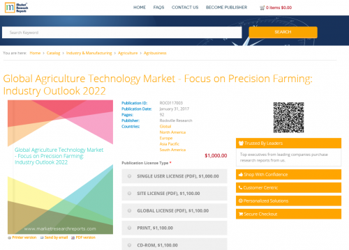 Global Agriculture Technology Market - Focus on Precision'