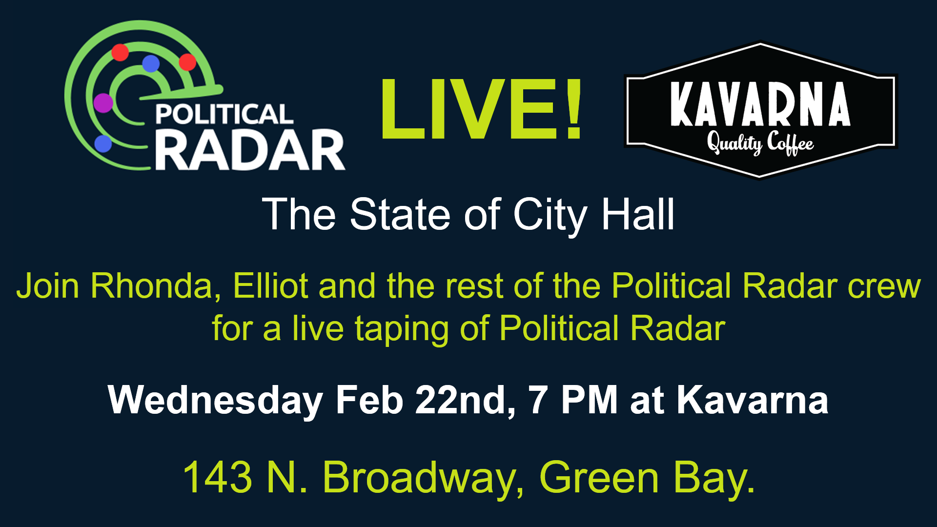 Political Radar Live at Kavarna