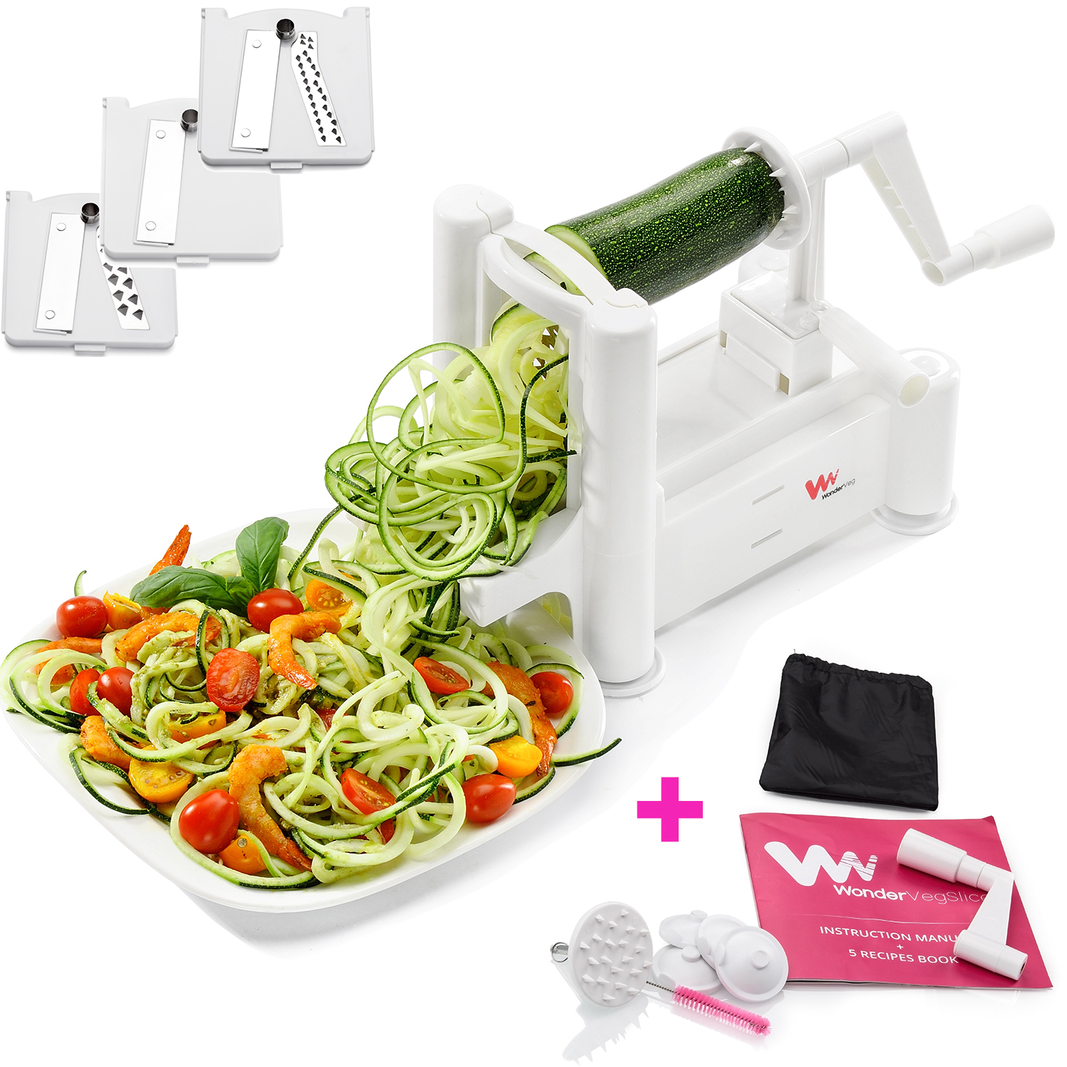 WonderVeg Vegetable Spiralizer - Best for Zoodles