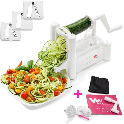 WonderVeg Vegetable Spiralizer - Best for Zoodles'