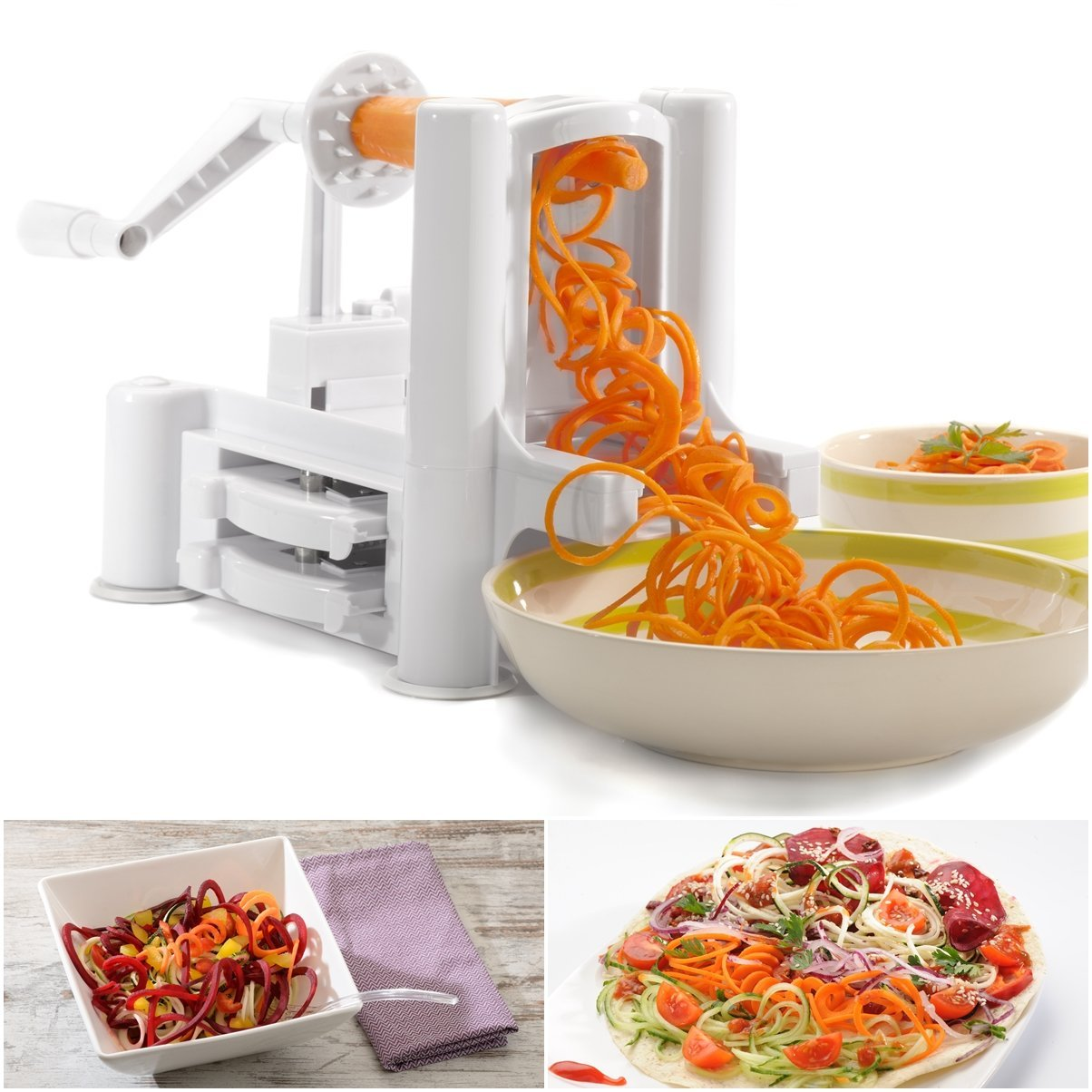 WonderVeg Tri Blade Vegetable Spiralizer