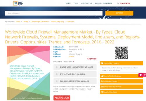 Worldwide Cloud Firewall Management Market 2016-2022'