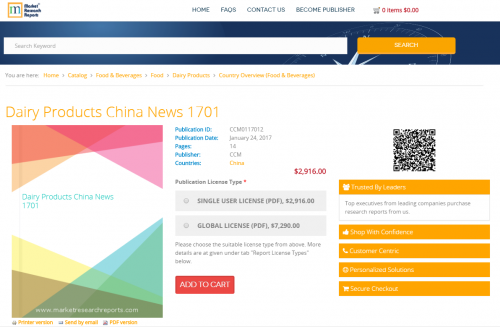 Dairy Products China News 1701'