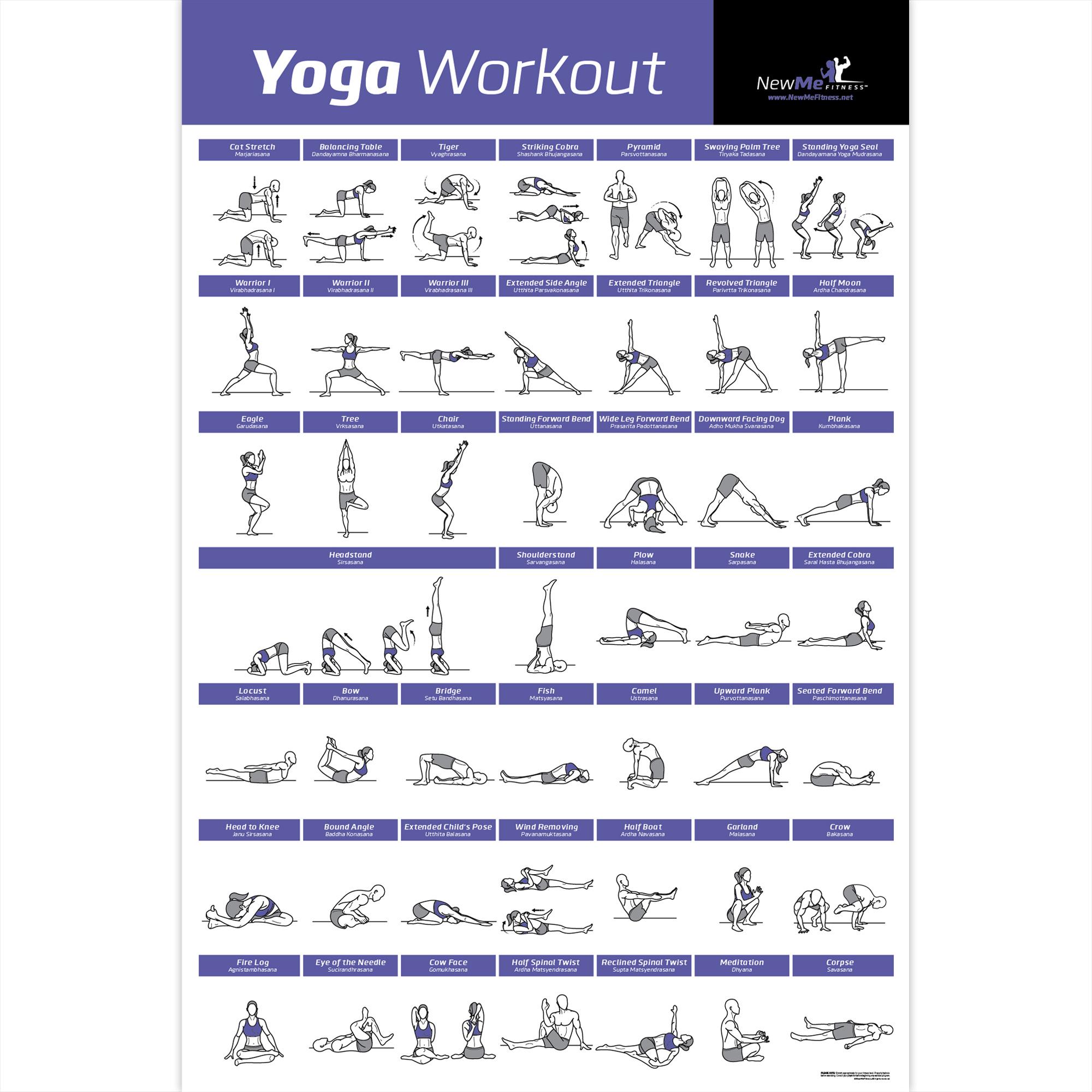 Pilates Mat Exercise Poster: NewMe Fitness Premieres New Yoga Workout Poster On Amazon