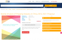 Market Analysis of Shipping Industry in China 2016-2021