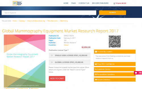 Global Mammography Equipment Market Research Report 2017'