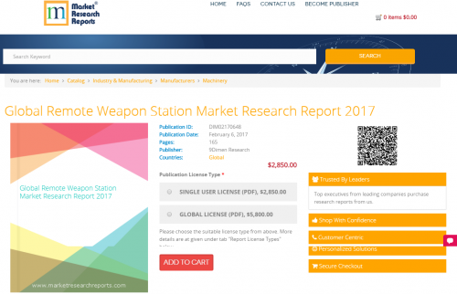 Global Remote Weapon Station Market Research Report 2017'