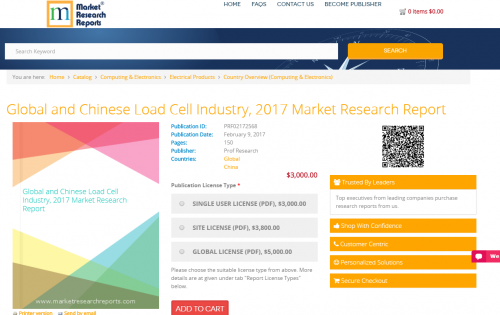 Global and Chinese Load Cell Industry, 2017 Market Research'