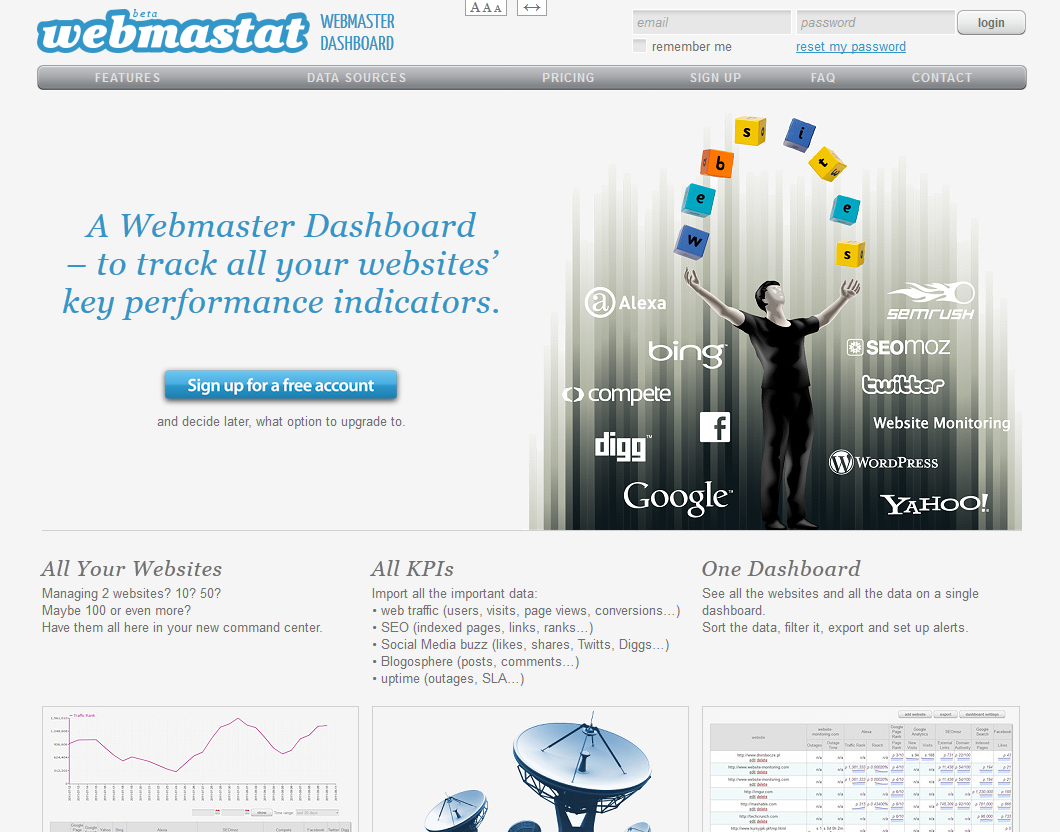 screenshot: www.webmastat.com