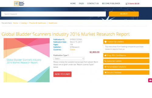 Global Bladder Scanners Industry 2016 Market Research Report'