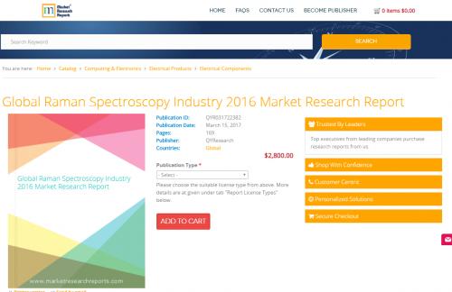 Global Raman Spectroscopy Industry 2016 Market Research'