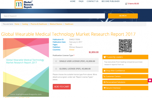 Global Wearable Medical Technology Market Research Report'