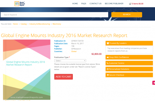 Global Engine Mounts Industry 2016 Market Research Report'