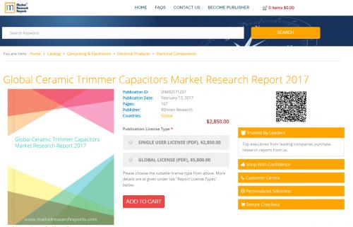 Global Ceramic Trimmer Capacitors Market Research Report'