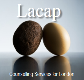 Logo for The London Association for Counselling & Psychother'