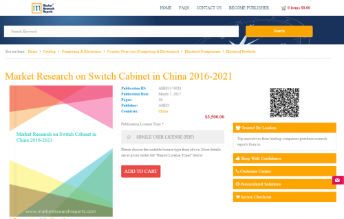Market Research on Switch Cabinet in China 2016-2021'