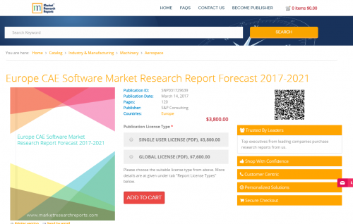 Europe CAE Software Market Research Report Forecast 2021'