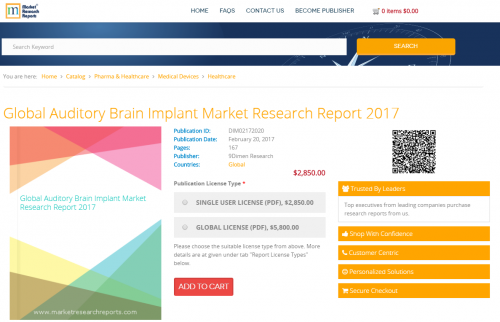 Global Auditory Brain Implant Market Research Report 2017'