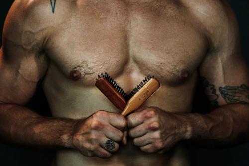 ZilberHaar Soft & Strong Boar Bristle Beard Brushes'