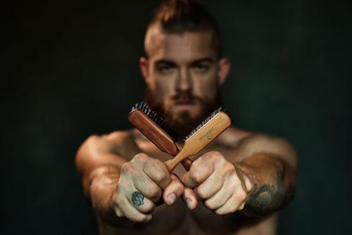 ZilberHaar's new soft boar bristle beard brush'
