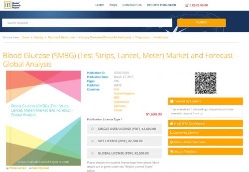 Blood Glucose (SMBG) (Test Strips, Lancet, Meter) Market'