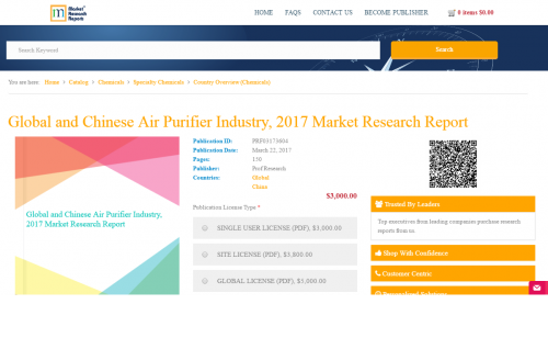 Global and Chinese Air Purifier Industry, 2017 Market'
