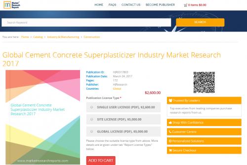Global Cement Concrete Superplasticizer Industry Market'