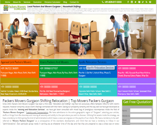Packers And Movers Gurgaon | Get Free Quotes | Compare and S'