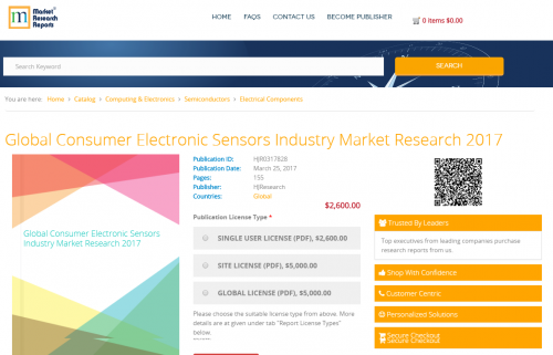 Global Consumer Electronic Sensors Industry Market Research'