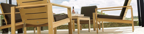 Wood patio furniture from Western Outdoor Living'