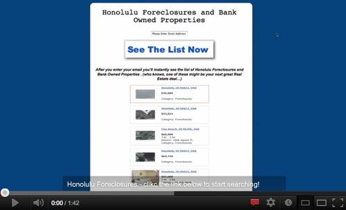 Beautiful list of Honolulu foreclosures!'