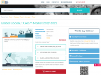 Global Coconut Cream Market 2017 - 2021
