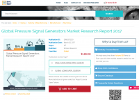 Global Pressure Signal Generators Market Research Report