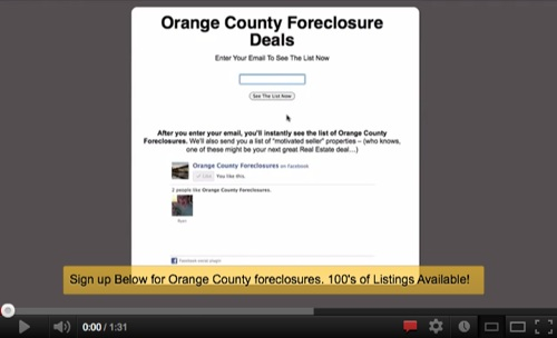 Orange County Foreclosures Are an Excellent Investment!'