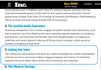Linking Into Sales Listed on Inc.com - Photo from Inc.com