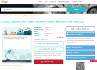 Global Automobile Cable Harness Market Research Report 2017