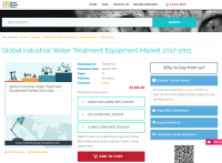Global Industrial Water Treatment Equipment Market 2021