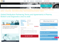 Global Distribution Partnering Terms and Agreements 2016