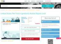 United States Pet Food Ingredients Market Report 2017