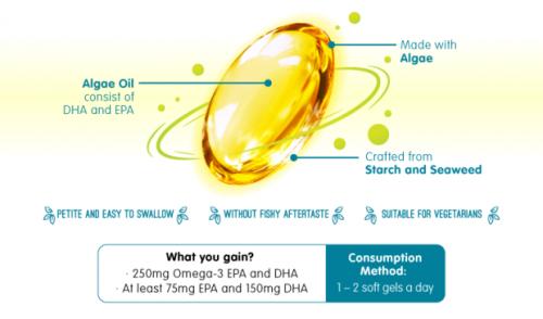 Migae Omega-3 Algae Oil'