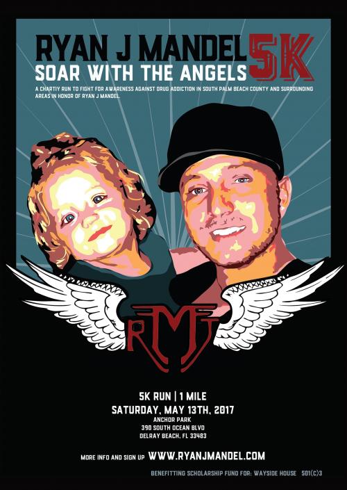 Ryan J. Mandel 5K Charity Run Flyer'