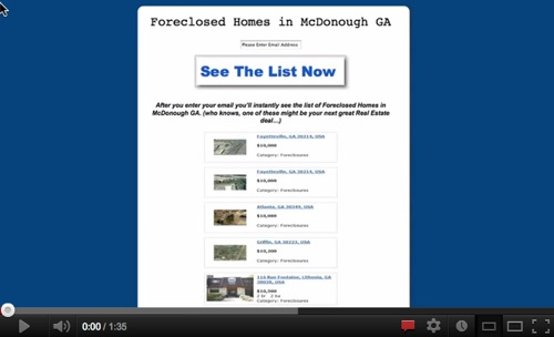 Loads of Foreclosed homes in McDonough GA!'
