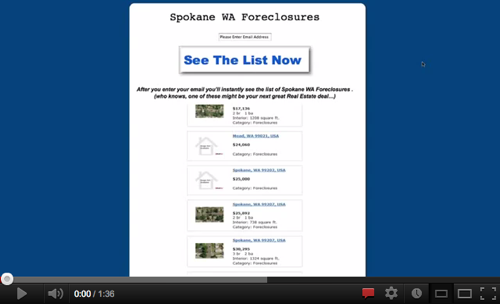 Spokane Foreclosures Make a Great Investment!'