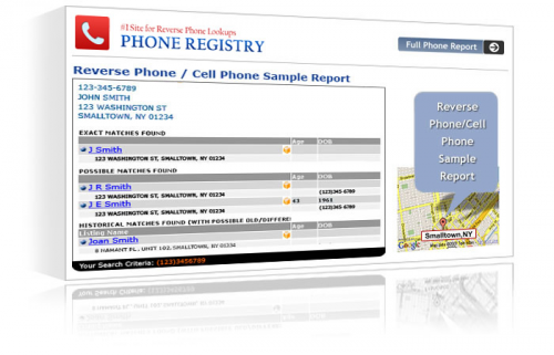 GetAnyPrivateInfo.com Sample Results.'