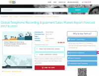 Global Telephone Recording Equipment Sales Market Report