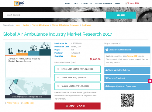 Global Air Ambulance Industry Market Research 2017'