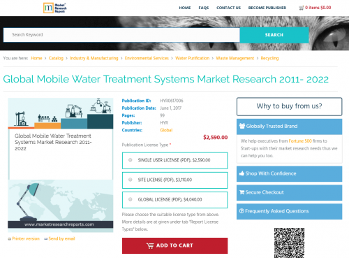 Global Mobile Water Treatment Systems Market Research'