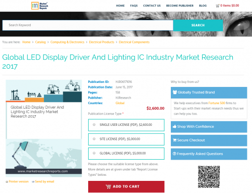 Global LED Display Driver And Lighting IC Industry Market'